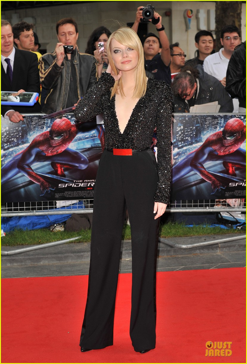 emma stone andrew garfield spider man london 012676655