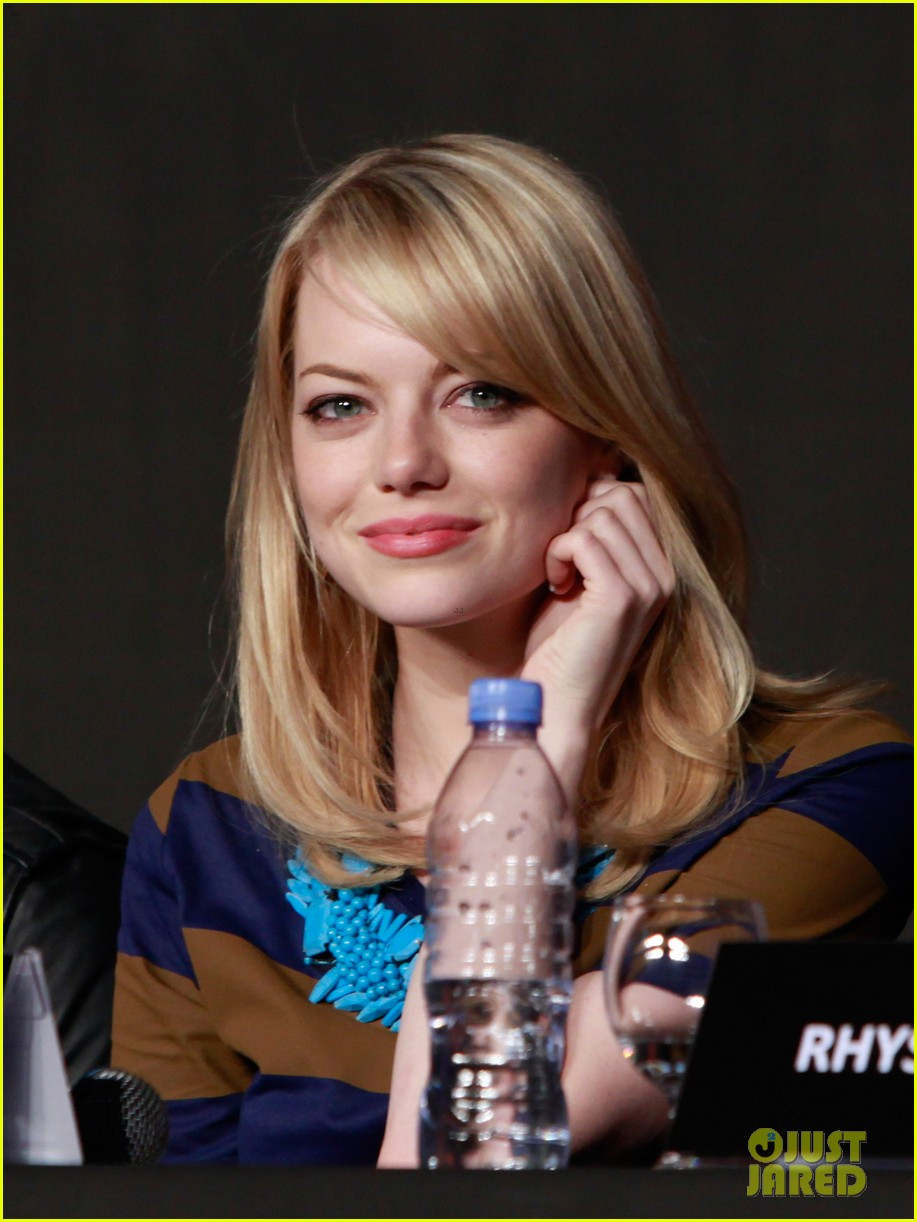 emma stone andrew garfield south korea press conference 13