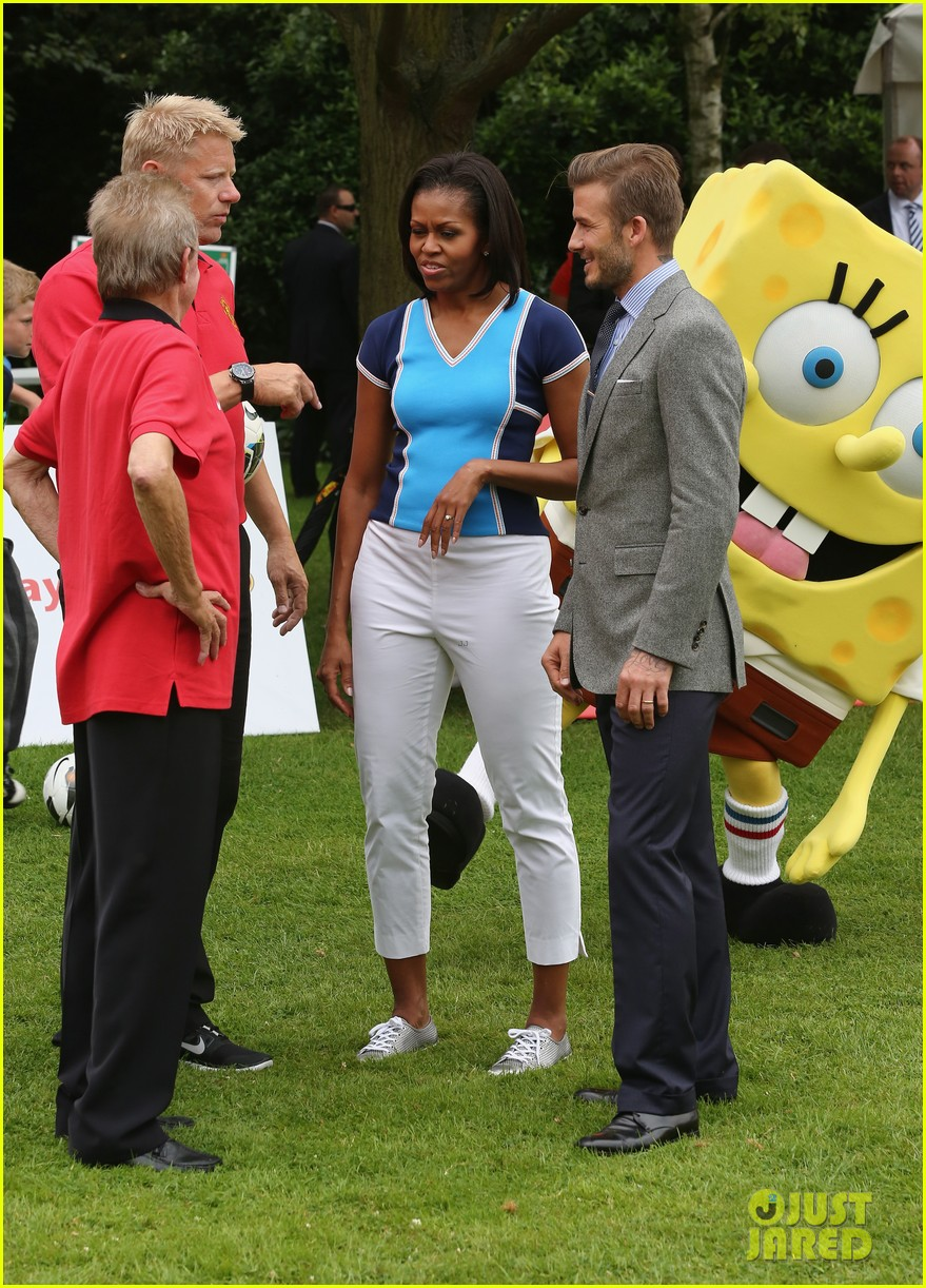 michelle obama david beckham prep for london olympics 06