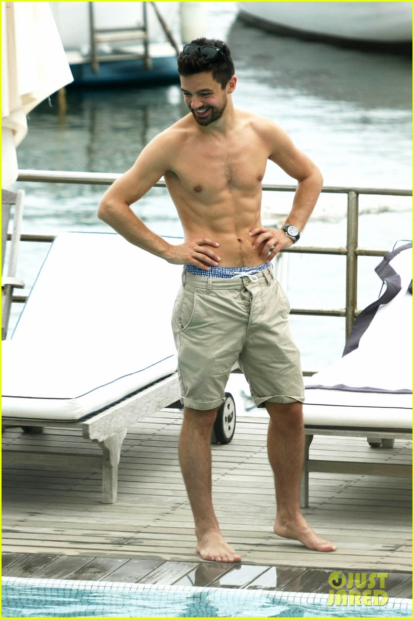 dominic cooper shirtless pda filled vacation with ruth negga 01