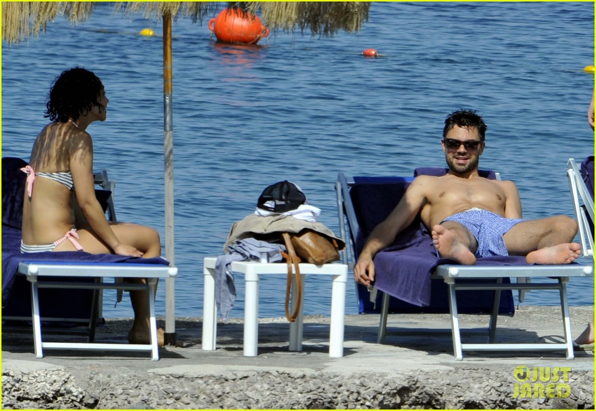 dominic cooper shirtless pda filled vacation with ruth negga 212686428