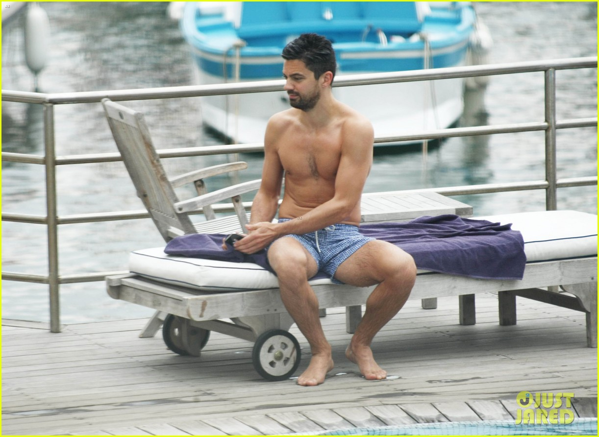 dominic cooper shirtless pda filled vacation with ruth negga 32