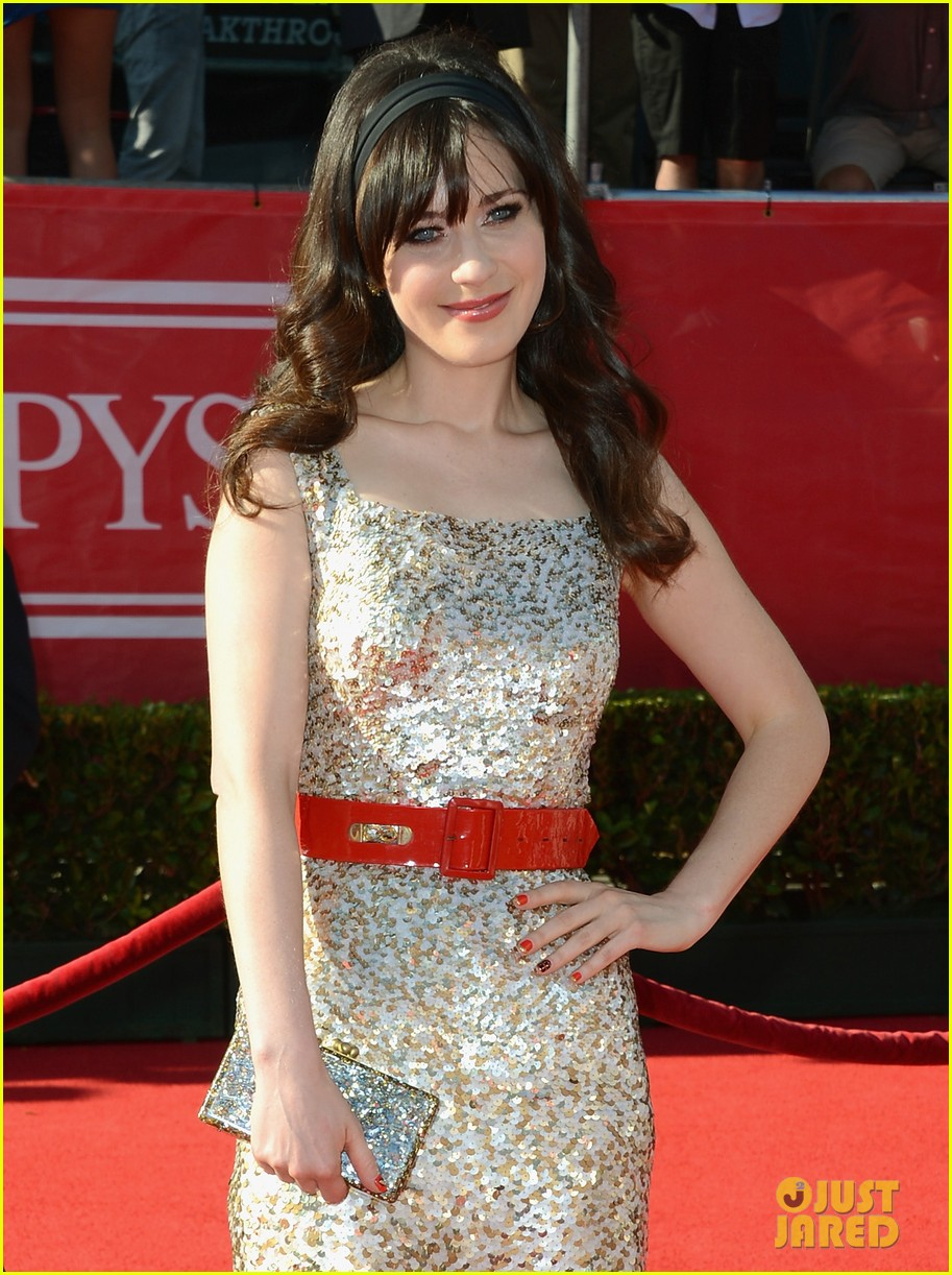 zooey deschanel espy awards 2012 red carpet 04