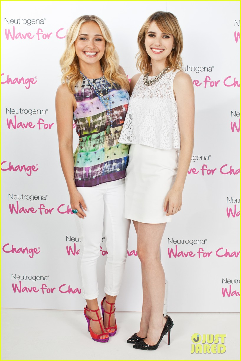 emma roberts hayden panettiere neutrogena wave for change 01