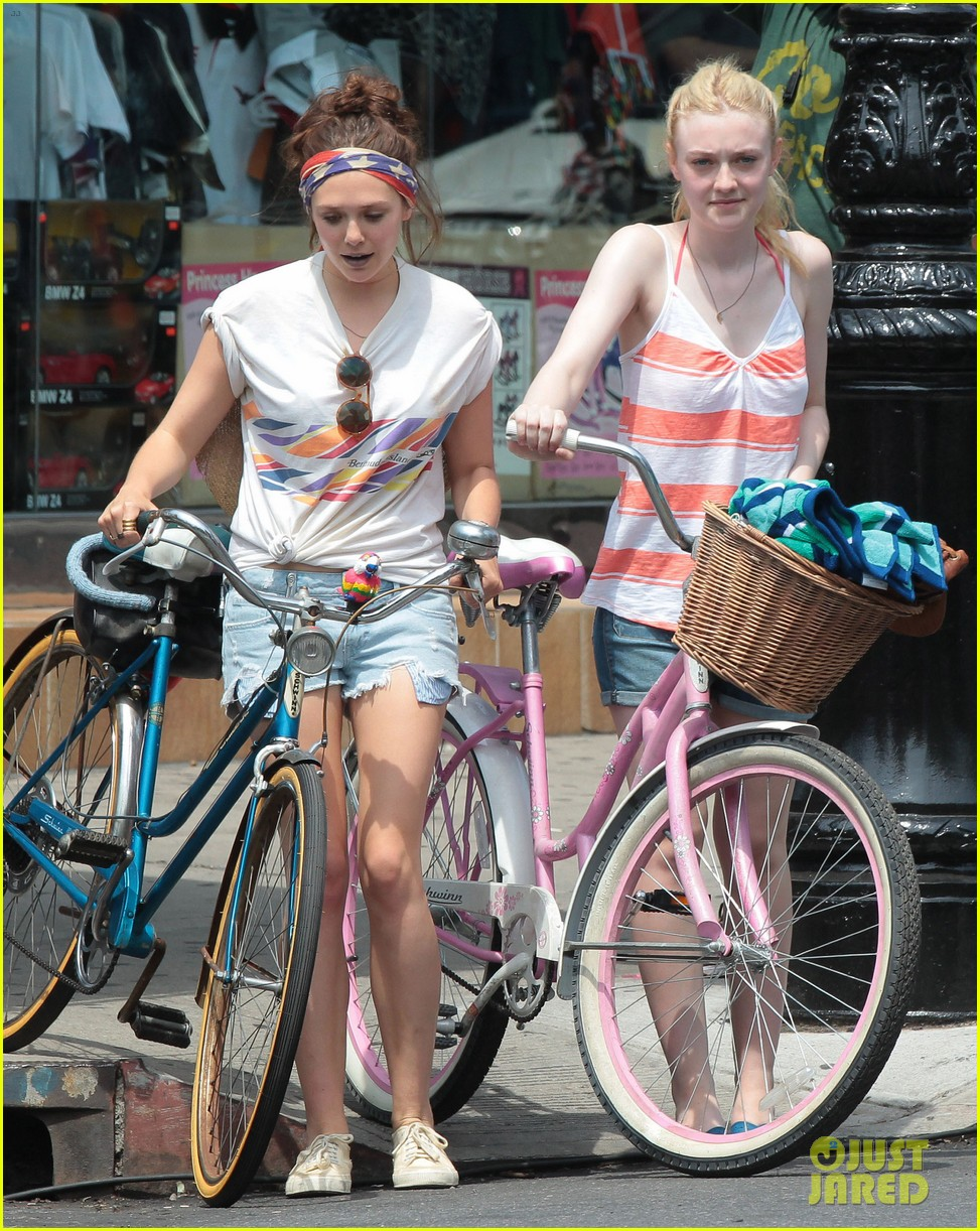 dakota fanning elizabeth olsen big apple bicycles 14