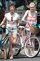 dakota fanning elizabeth olsen big apple bicycles 01