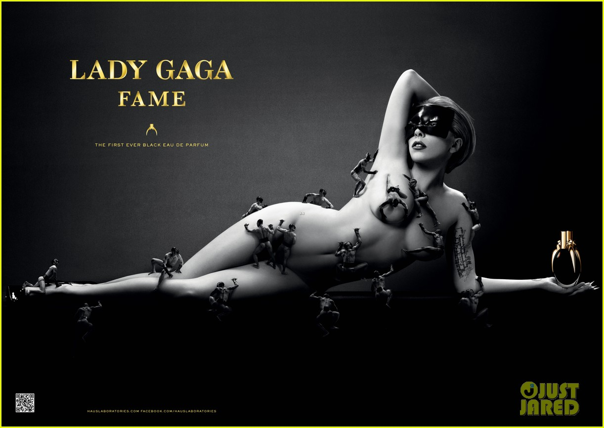 lady gaga naked for fame perfume ad