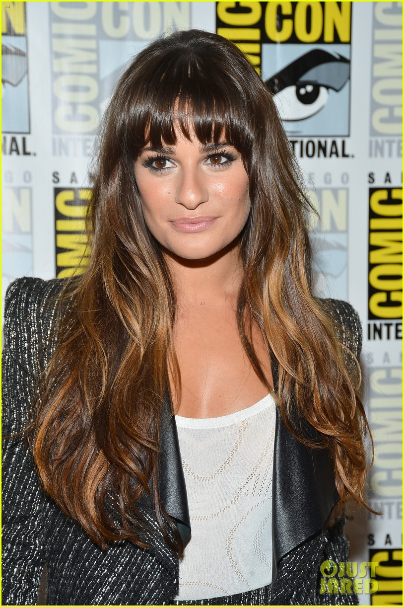lea michele glee cast hits comic con 2012 21