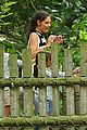 katie holmes suri feeds giraffes at bronx zoo 05
