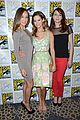 maggie q shane west nikita at comic con 05