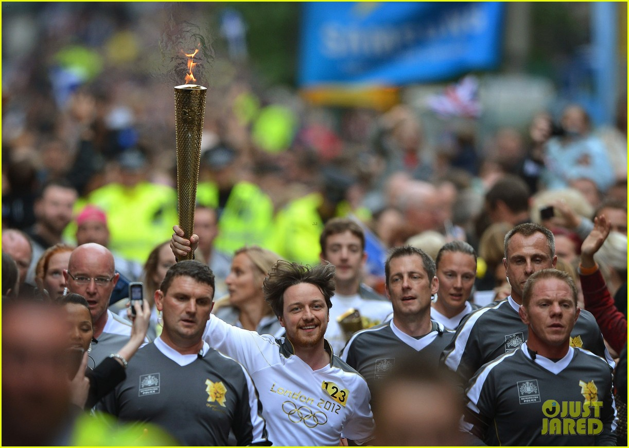 james mcavoy runs with the olympic torch 03