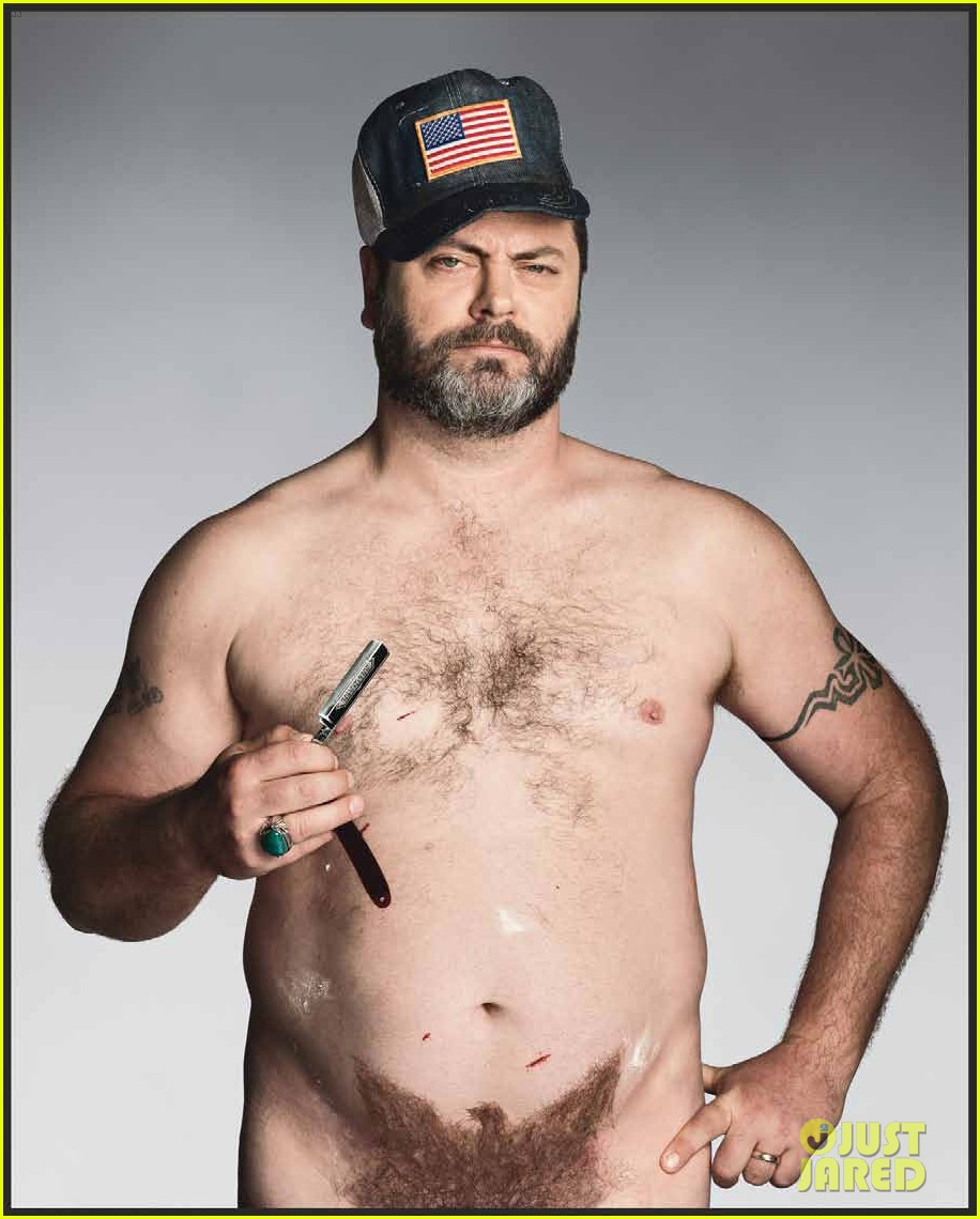 parks and recreation nick offerman shirtless for gq 02