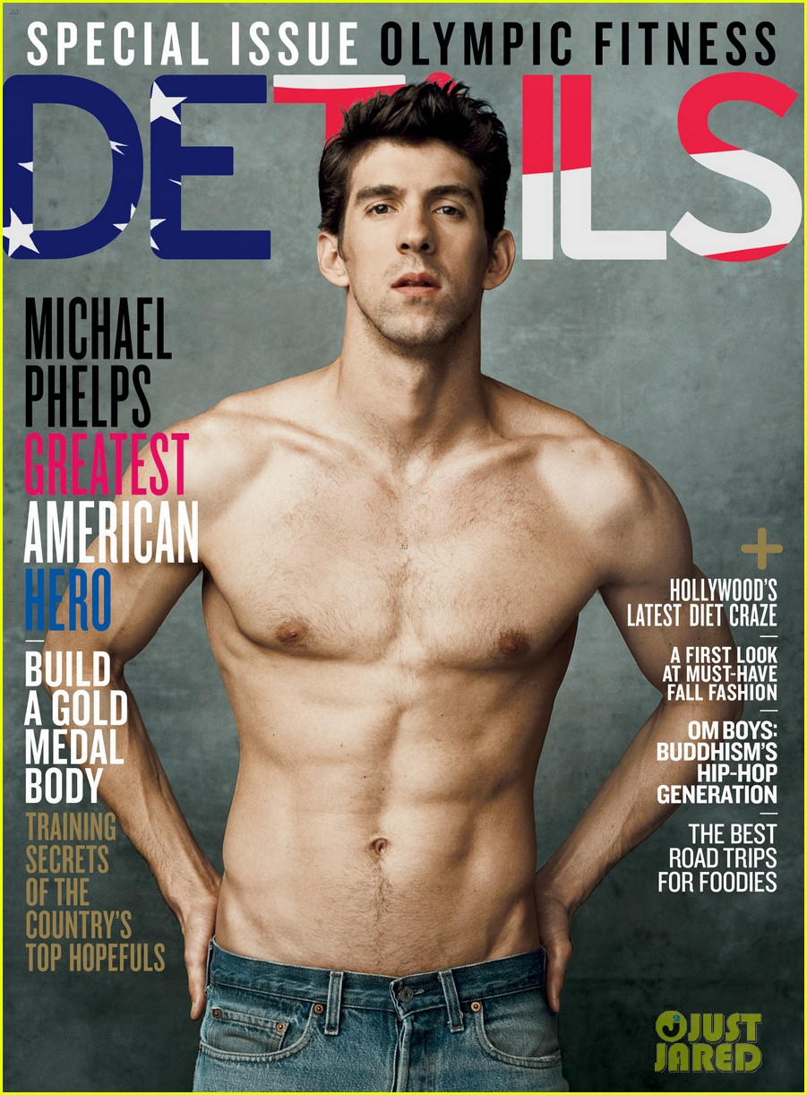 michael phelps shirtless on details olympics issue 01