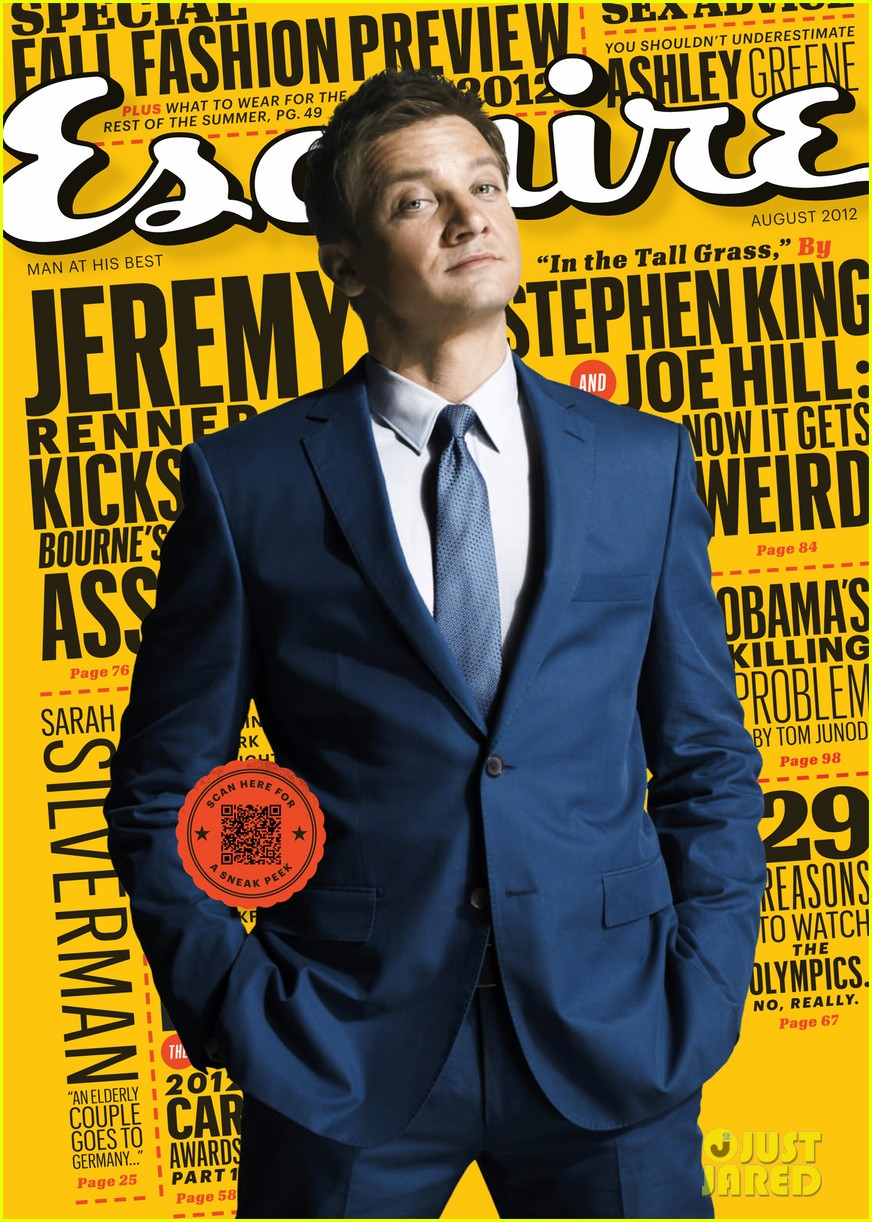 jeremy renner esquire august 2012