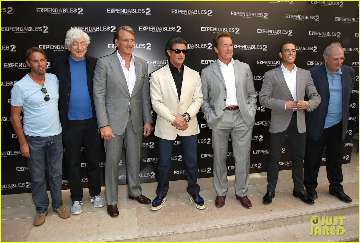 arnold schwarzenegger sylvester stallon expendables 2 paris photo call 162699665