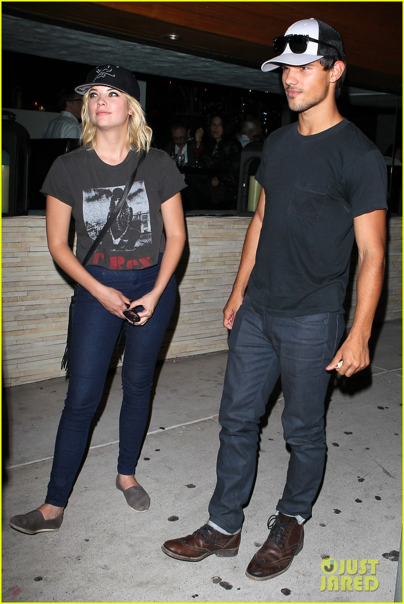 taylor lautner ashley benson red o dinner duo 032699502