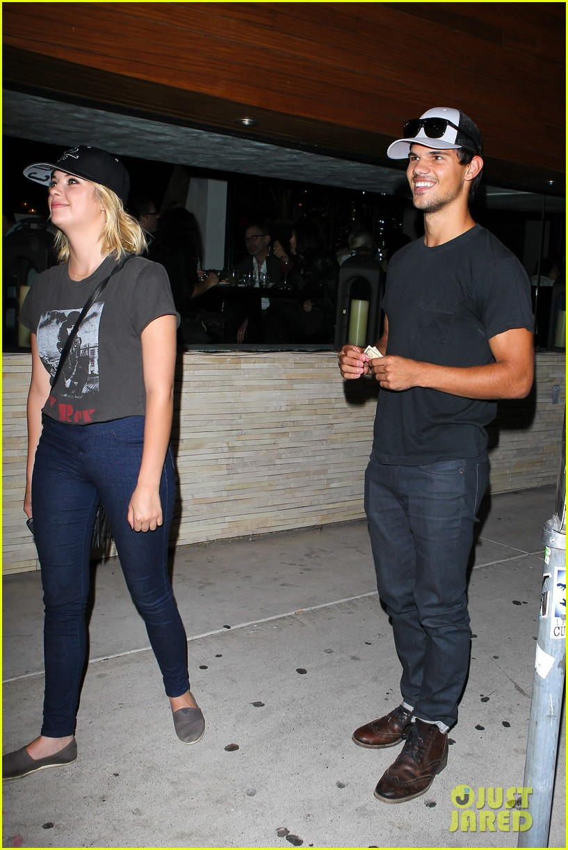 taylor lautner ashley benson red o dinner duo 112699510
