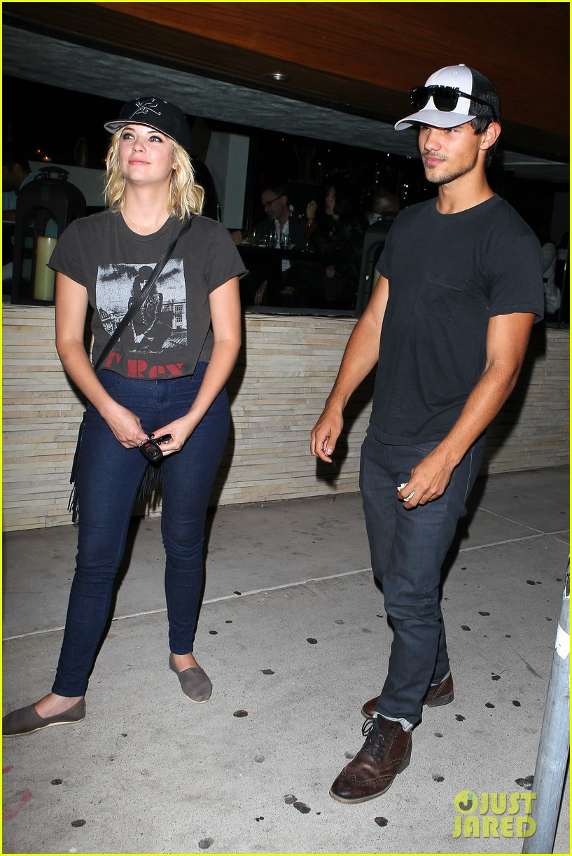 taylor lautner ashley benson red o dinner duo 162699515