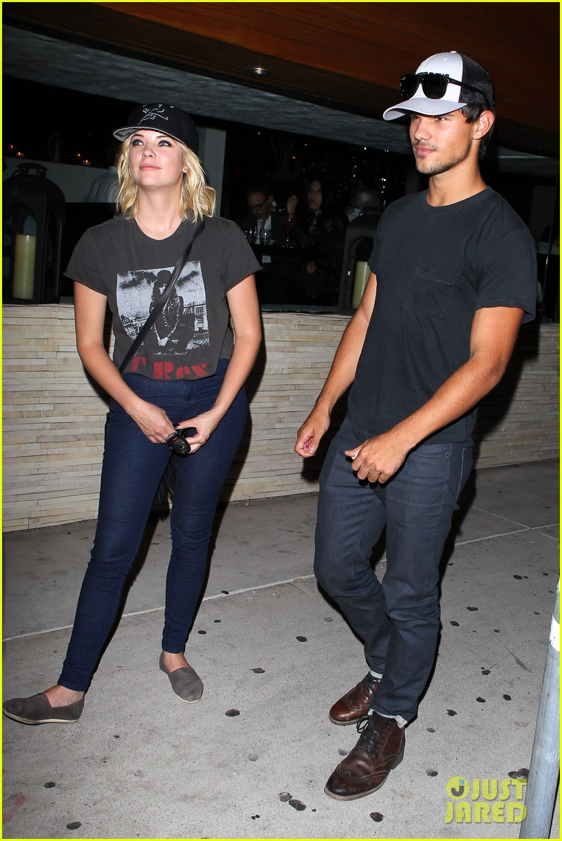 taylor lautner ashley benson red o dinner duo 172699516