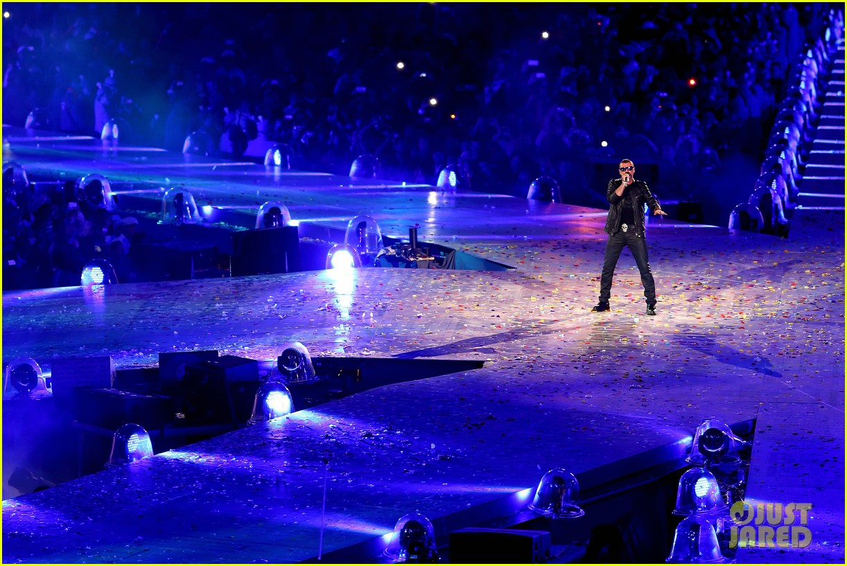 russell brand george michael olympic closing ceremony 08