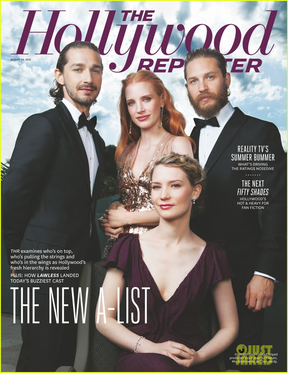 jessica chastain tom hardy cover thr 01