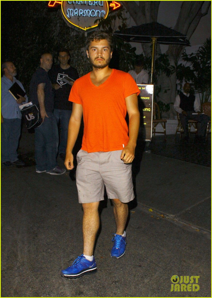 emile hirsch chateau marmont night out 01