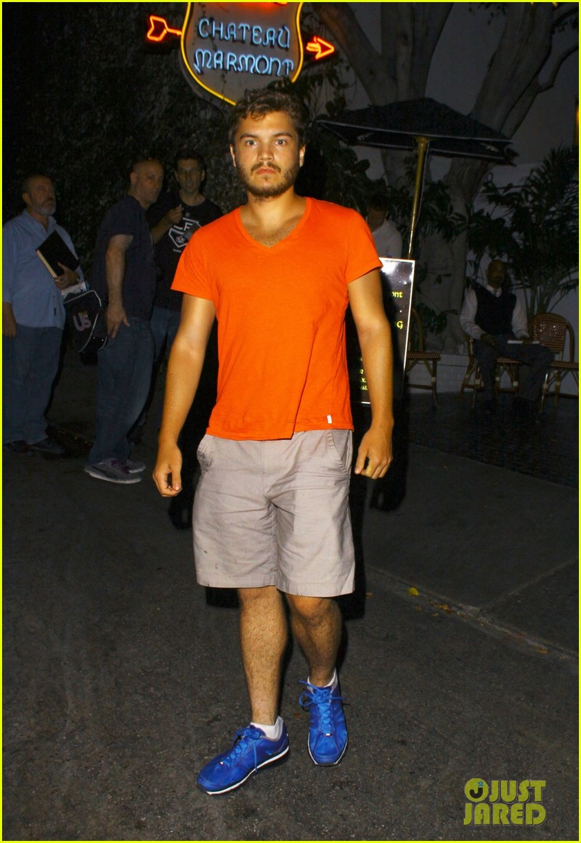 emile hirsch chateau marmont night out 032704906