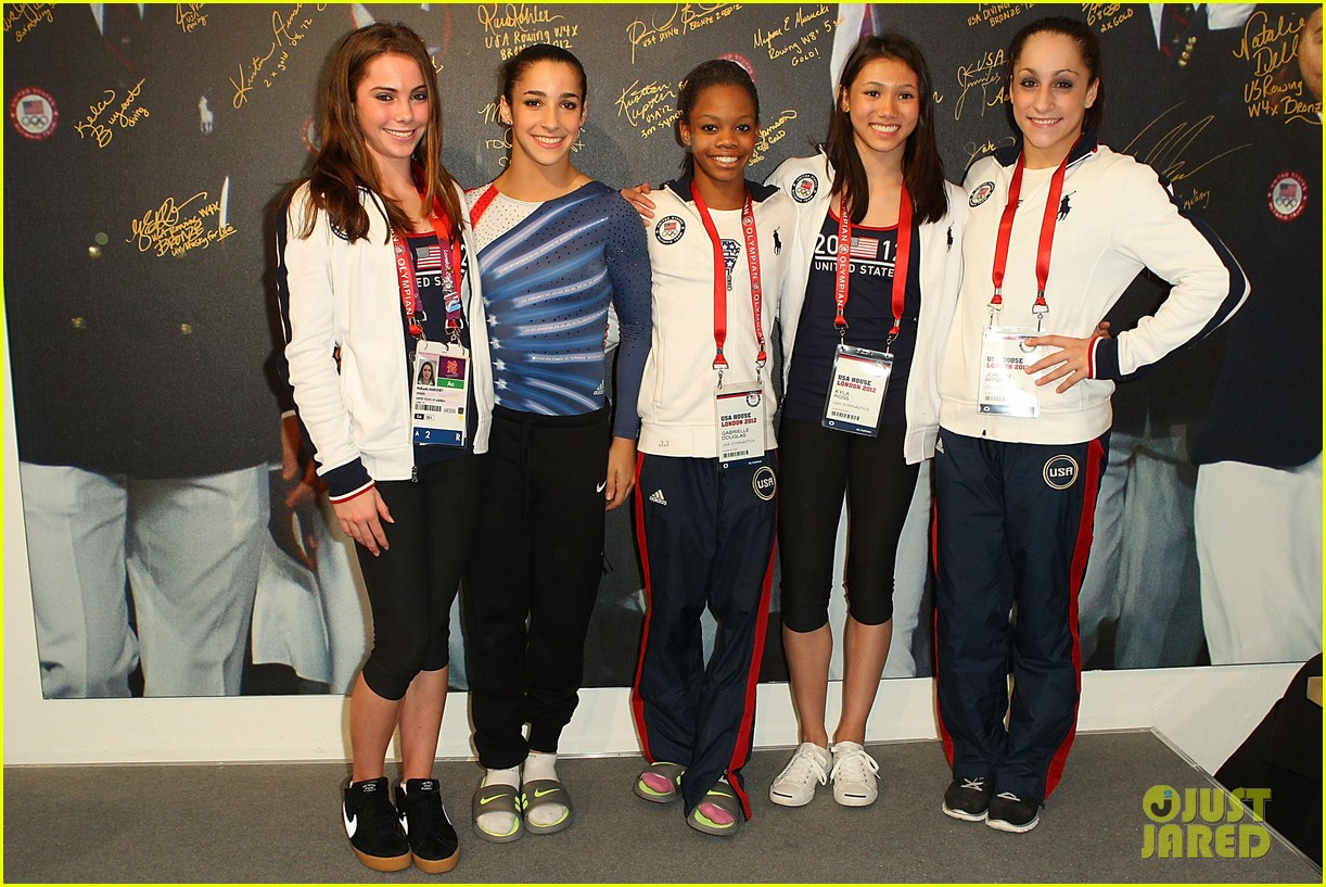 fab five celebrate olympic medals at adidas lounge 05