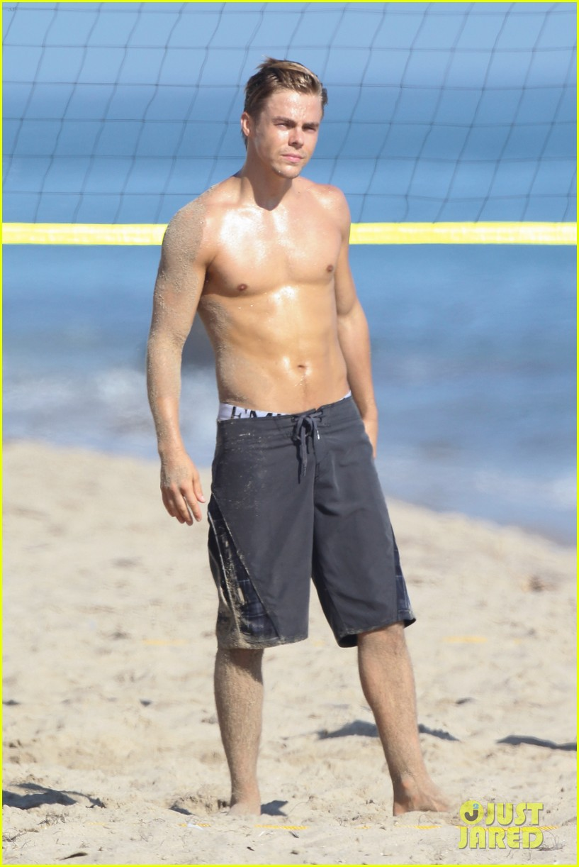 derek hough mark ballas shirtless beach day 16