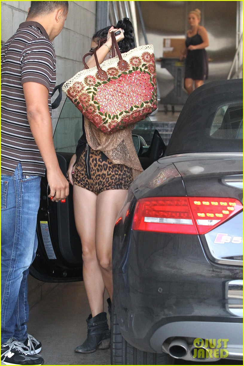 vanessa hudgens leopard leotard in la 18
