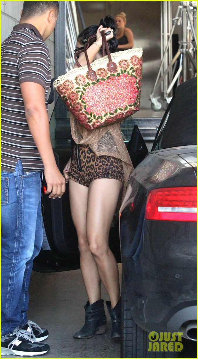 vanessa hudgens leopard leotard in la 21