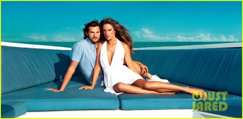 ashton kutcher topless alessandra ambrosio colcci campaign 02