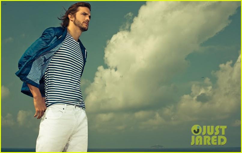 ashton kutcher topless alessandra ambrosio colcci campaign 082698931