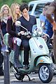 blake lively penn badgley vespa riders for gossip girl 12