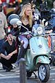 blake lively penn badgley vespa riders for gossip girl 16