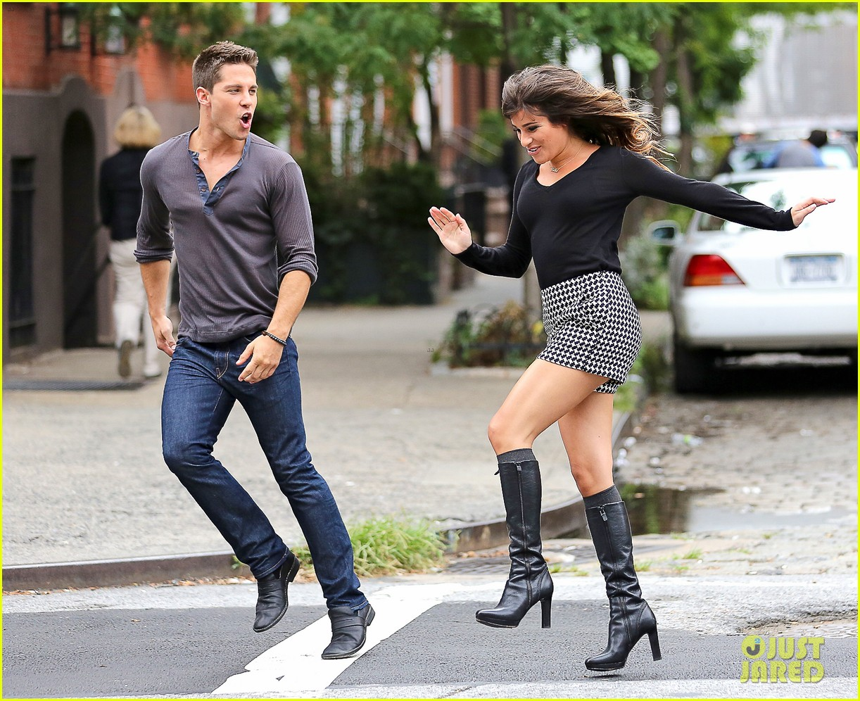 Full Sized Photo of lea michele glee day with dean geyer 22 | Photo ...
