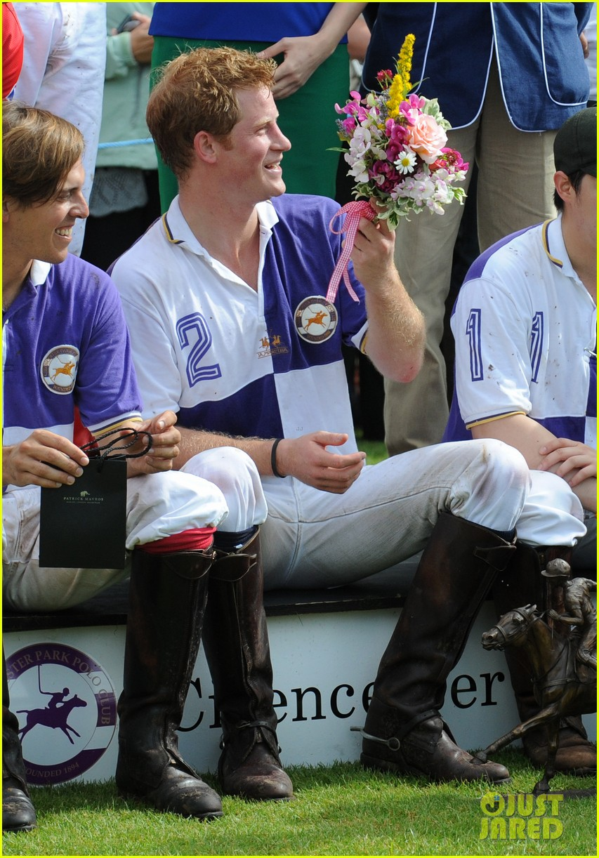prince harry william charity polo match 08