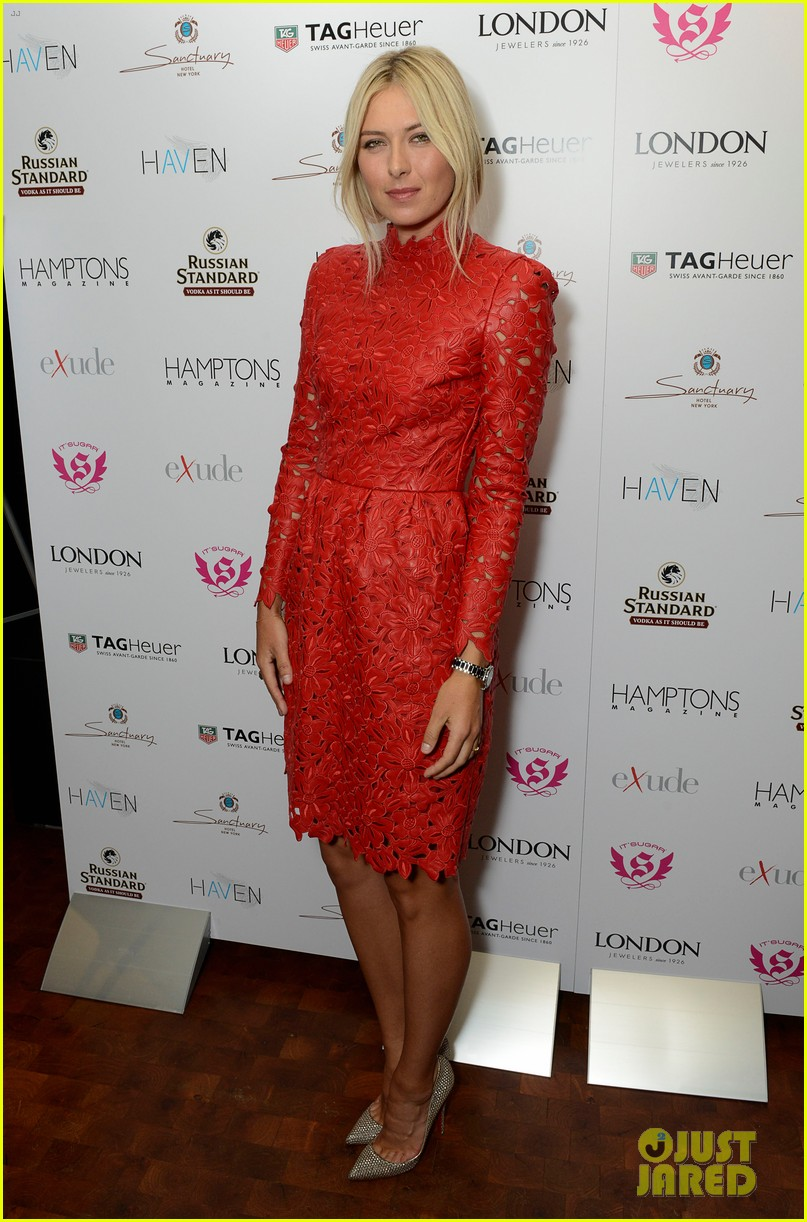 maria sharapova hamptons magazine cover party 01