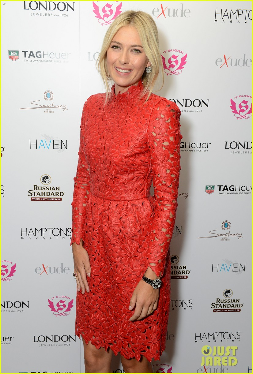 maria sharapova hamptons magazine cover party 06