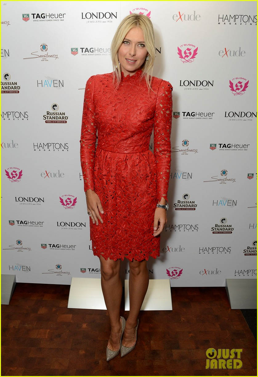 maria sharapova hamptons magazine cover party 08