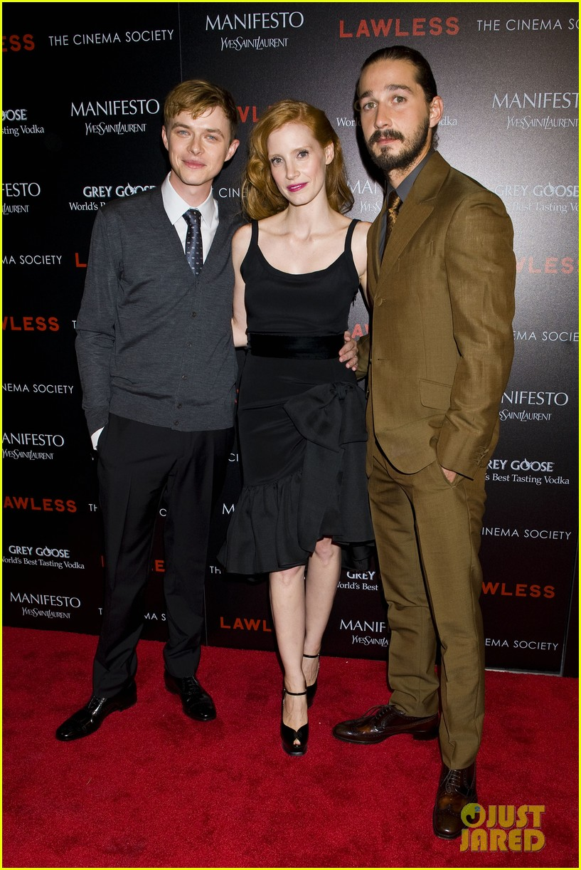 jessica chastain shia labeouf lawless nyc 03
