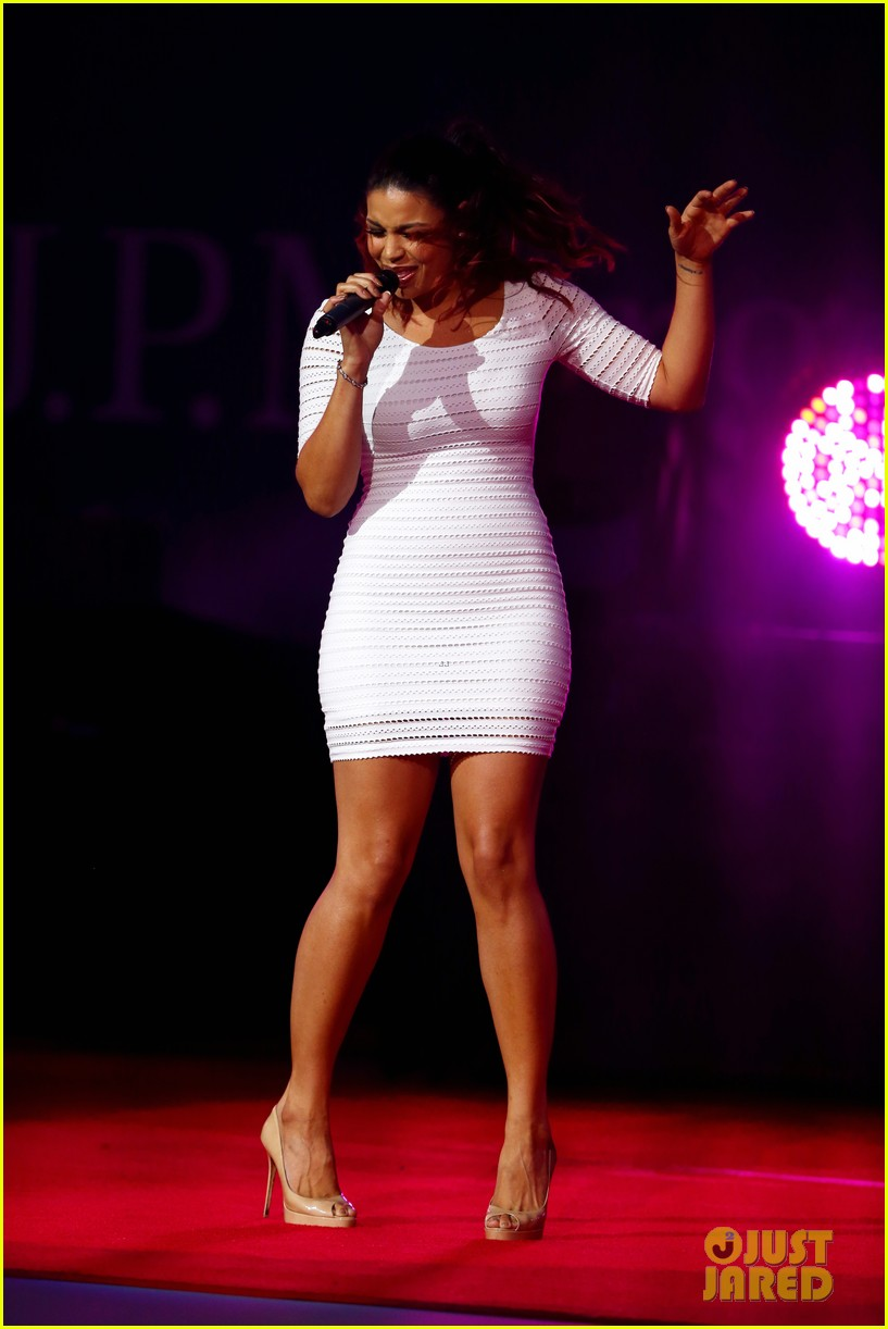 jordin sparks u s open 2012 opening night ceremony 09