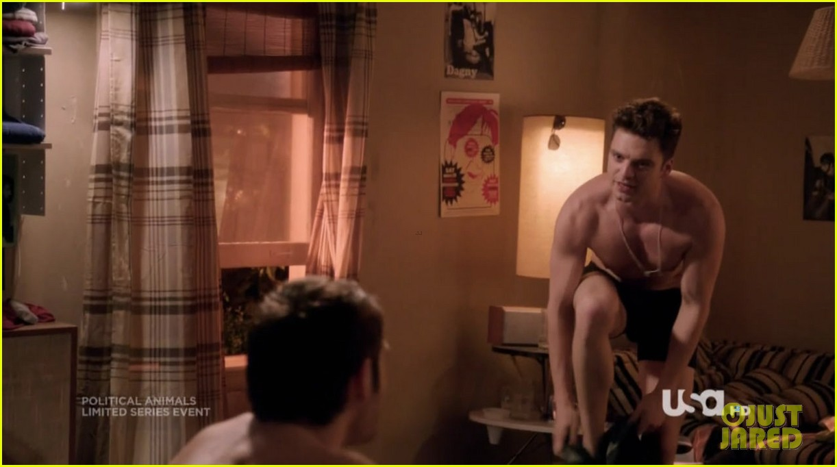 sebastian stan shirtless for political animals 19