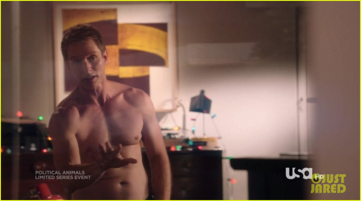 sebastian stan shirtless for political animals 23