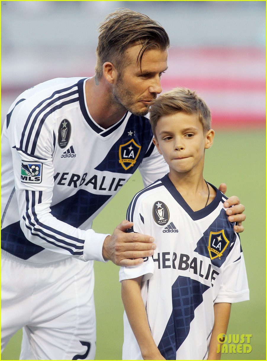 david beckham injures ankle on romeos 10th birthday 022713366