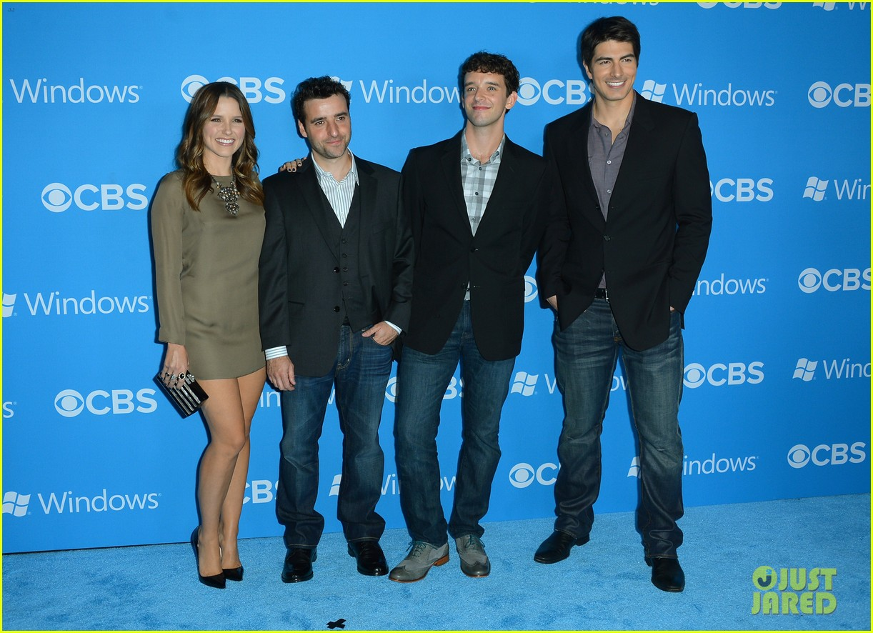 sophia bush brandon routh cbs fall 2012 premiere party 032724596