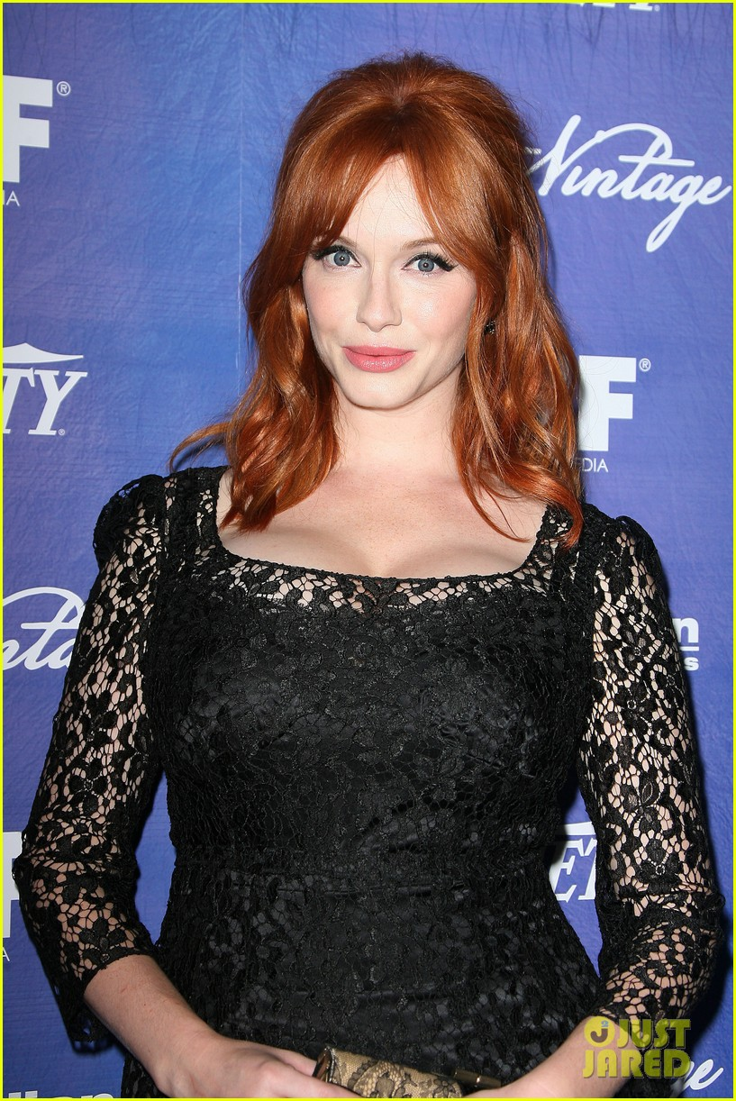 christina hendricks amy poehler variety women film pre emmy event 04