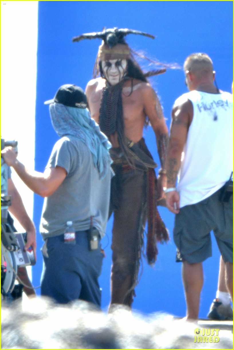 johnny depp lone ranger set 08