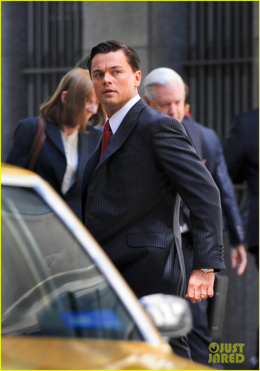 leonardo dicaprio wolf of wall street set with margot robbie 342728322