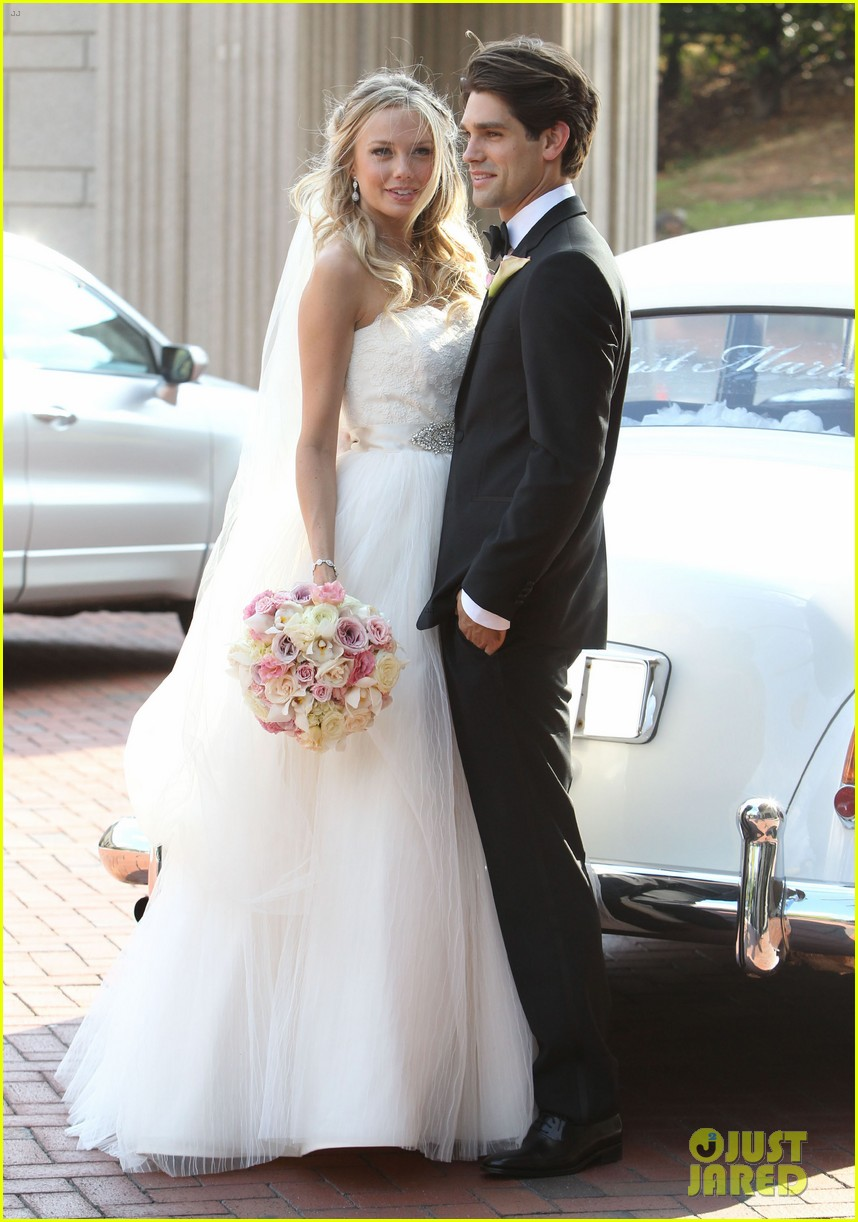 justin gaston weds melissa ordway first wedding pictures 10